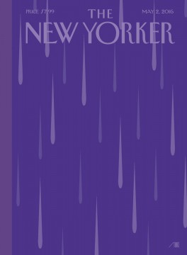 The New Yorker-May 2, 2016 Cover-Purple Rain